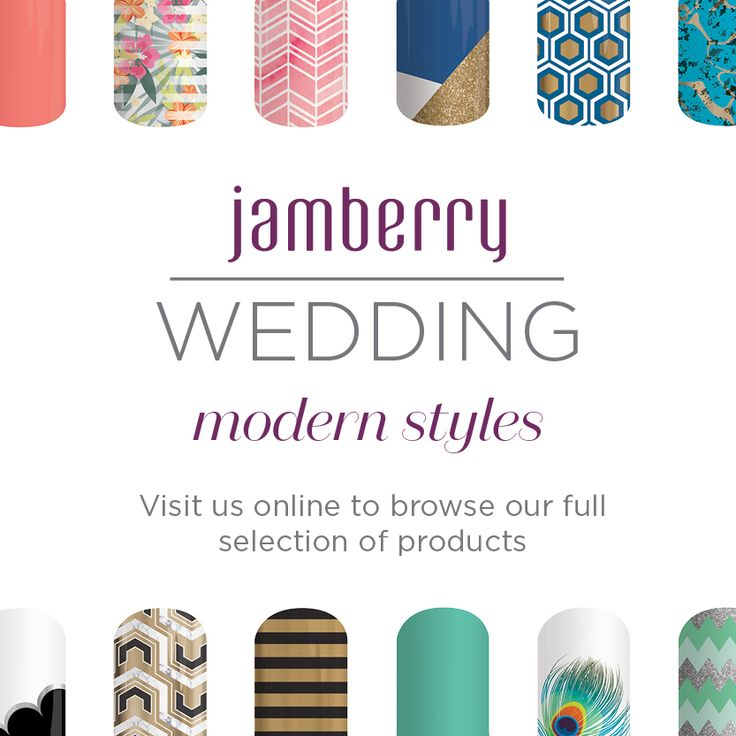 Into modern styles for your wedding? Jamberry has the perfect nail wraps for you! Shop now at http://kellieparker.jamberry.com