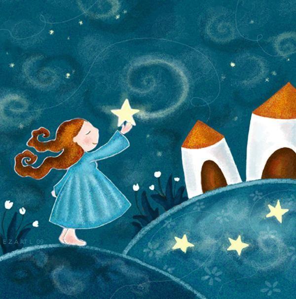 Les estrelles de Fina Girbés.Il.lustració Elisabeth Zartl