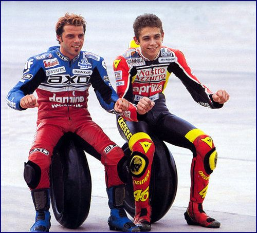 Valentino Rossi and Loris Capirosi