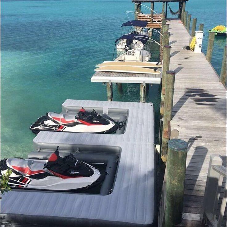 Tokoza Island Jet Ski docks  #superyacht #megayacht #yacht #yachts #yachtie #yachtcrew #yachting #yachtlife #saltlife #luxurylife #luxuryyacht #luxurylifestyle #luxury #lifestyle #jetski #watertoy #inflatable #custom #ocean #funair #watersports by funairfun