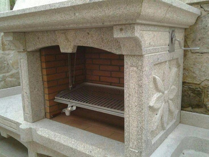 Parrilla de lareira baluja en acero inox para el interior for Barbacoa patio interior