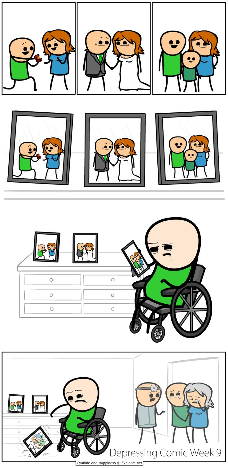 Cyanide & Happiness (Explosm.net) depressing comic week is here. Hope your ready for this feels trip.