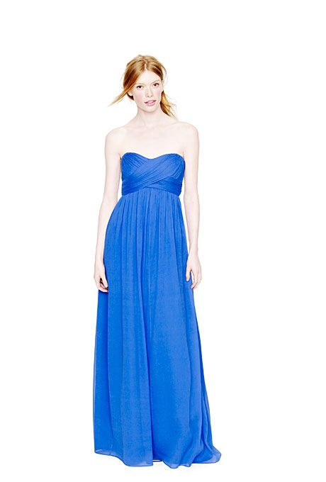 blue j crew bridesmaid dress.