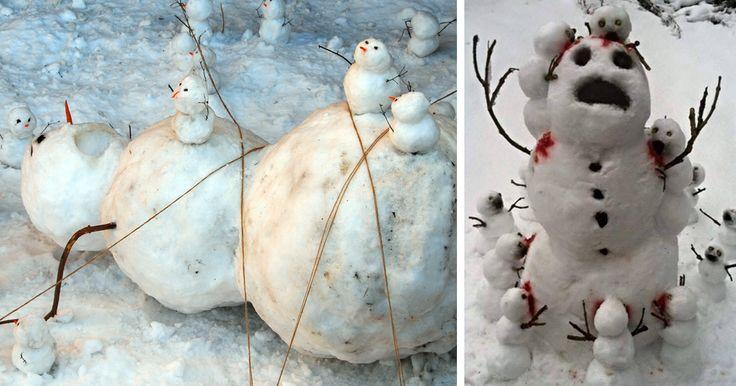 15 Muñecos de nieve tan creativos como divertidos   Bored Panda