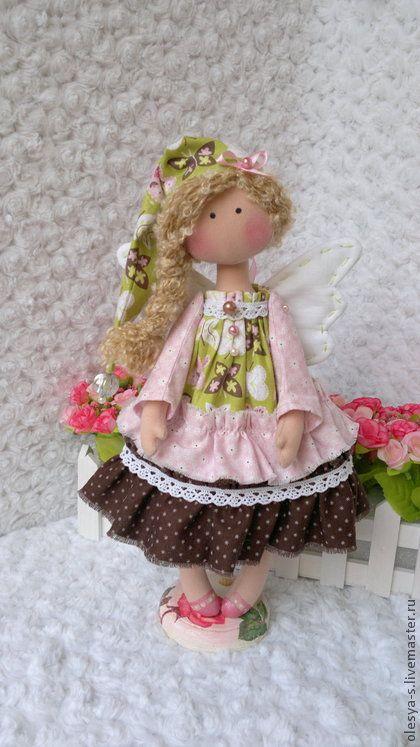 Гномочка Katerinka - бледно-розовый,ангелочек,кукла ручной работы,подарок женщине