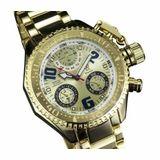 Konigswerk AQ202408G Mens Gold Bracelet Watch