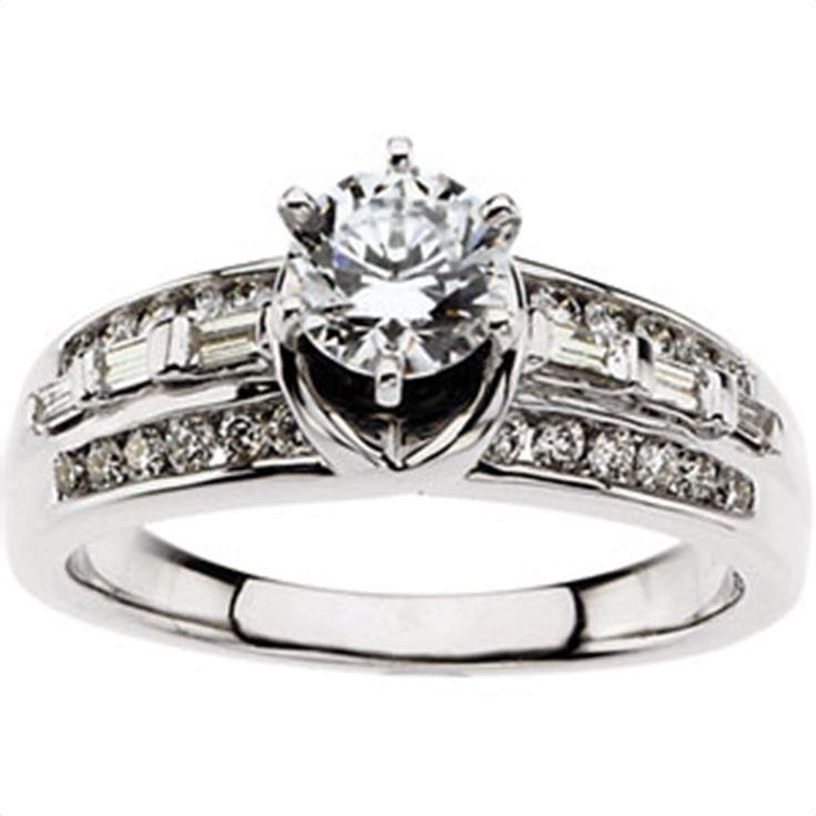 1/2 ct tw Cathedral Semi-Set Diamond Engagement Ring Matthew Erickson Jewelers