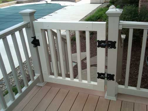 Deck Railings And Gates Vinyl Railing Gate Kit With
