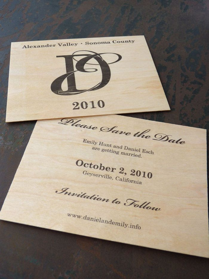 letterpress winery wedding invitation