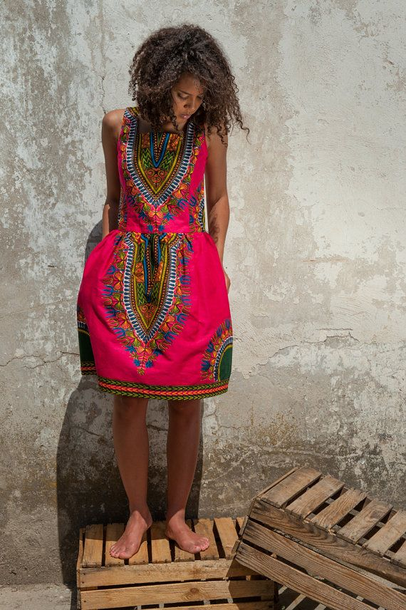 African dress Addis Abeba by KOKOworld on Etsy