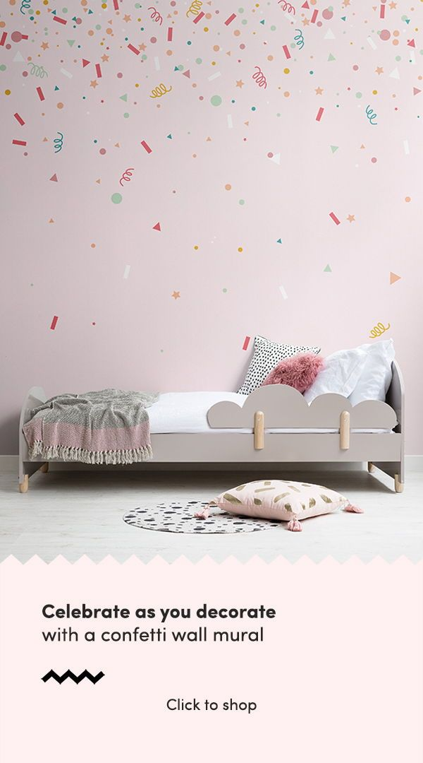 Our Confetti Inspired Wallpapers Are Perfect Celebration Decor For A Cute Nursery Or Kids Room Cool Wallpapers For Bedroom Kids Room Wallpaper Kids Wallpaper
