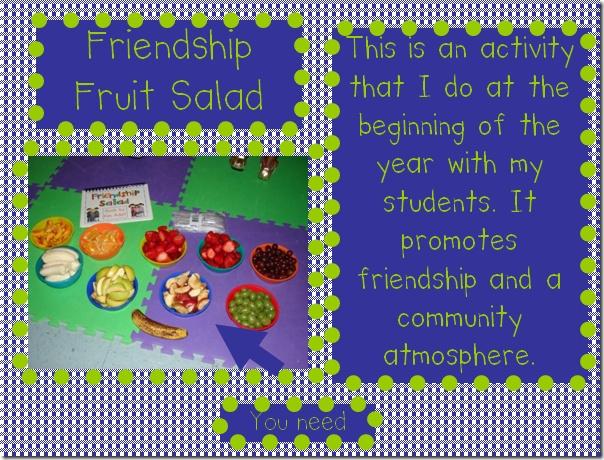 Friendship salad-LOVE this!!!