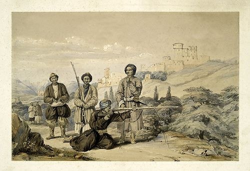 Practicas de tiro-Character and costumes of Afghanistan 1843-James Atkinson