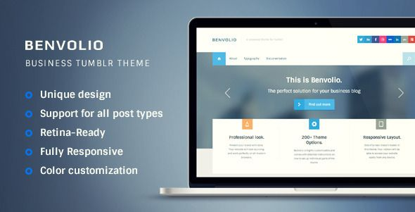 Benvolio - A Business Tumblr Theme - Business Tumblr