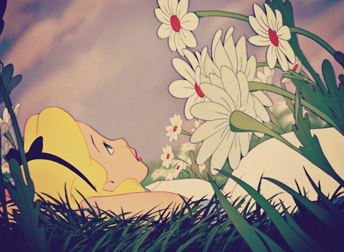 Alice in Wonderland, Disney one of my favorites parts. It's simple but everything starts with a dream.