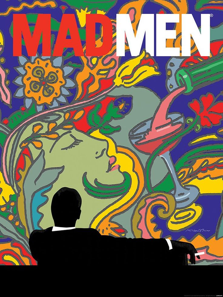 """Mad Men"" by Milton Glaser - Hero Complex Gallery                                                                                                                                                                                 More"