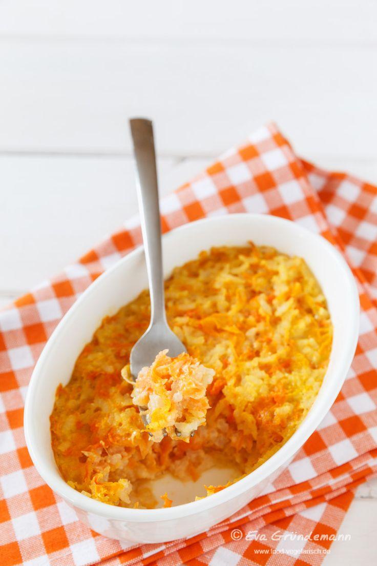 Vegetarisches Rezept mit Bildern für einen Möhren-Reis-Auflauf (Porkkanalaatikko) aus Finnland