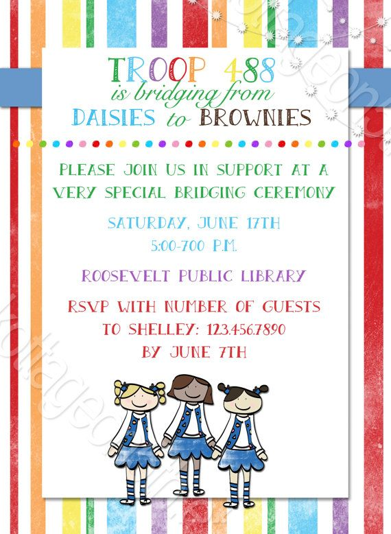 daisy investiture ceremony invitations just bcause