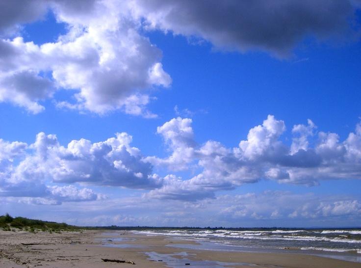 Bałtycka plaża po sezonie... wrzesień na Mierzei Wiślanej