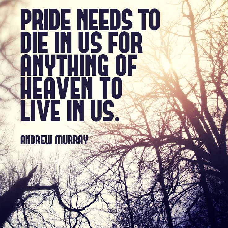 Christian quote about vanity and pride. What does the Bible tell us about pride? Pride needs to die in us for anything of heaven to live in us.