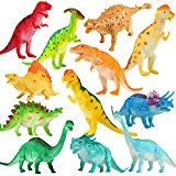 Dinosaur Figure 7 Inch Jumbo Dinosaur Toy Playset(12 pack) Safe Materials Assorted Realistic Dinosaur Yeonha Playthings Vinyl Plastic Dino Dinosaur Fixed Party Favors Toys For Kids Guys Toddler Educational