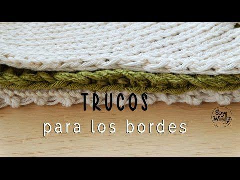 Qué hacer para que los bordes del tejido queden perfectos - YouTube