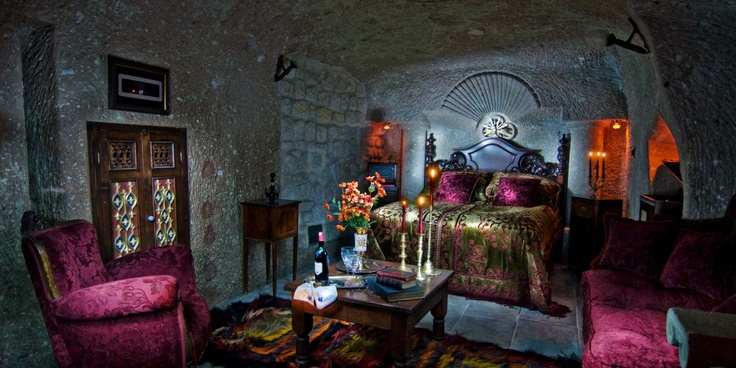 Sacred House: Anka's Lair is one of 12 eclectic cave rooms dressed with one-of-a-kind fittings.