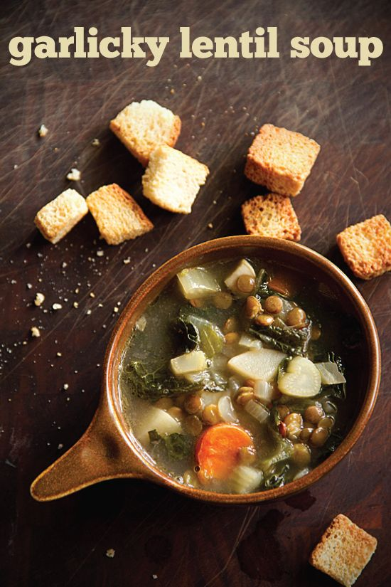 Garlicky Lentil Soup with Carrots, Kale and Other Staples