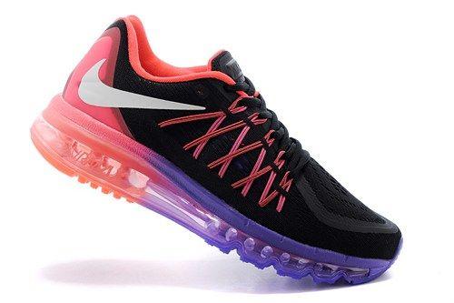 2015 new 698903-006 Air Max black purple Women running sport shoes
