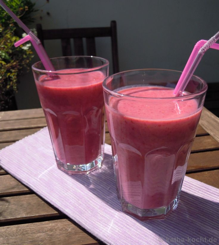 Himbeer-Buttermilch Shake - Katha-kocht!
