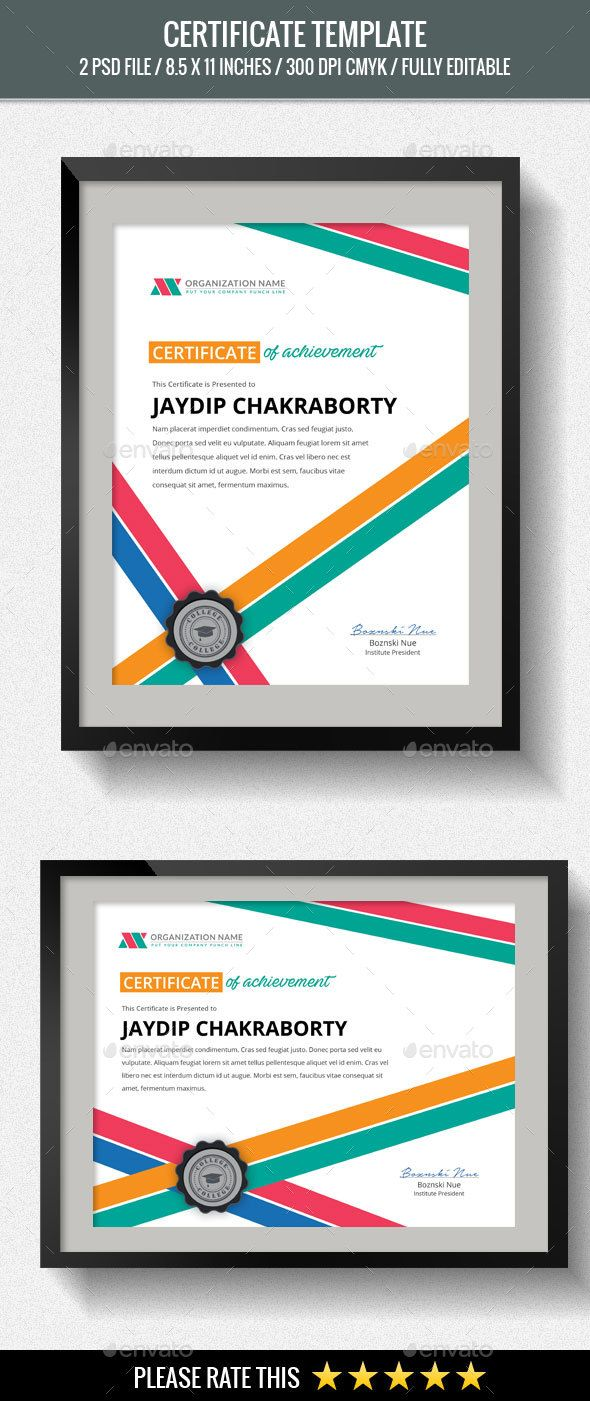31 best psd templates certificate design images on pinterest multipurpose certificates yelopaper Gallery