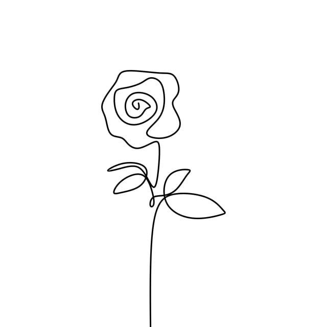 One Line Rose Flower Minimalism Drawing Vector Illustration Floral Art Design Vector Illustration Drawing Png And Vector With Transparent Background For Free In 2020 Floral Art Design Floral Illustrations Vector Illustration