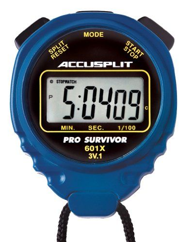 ACCUSPLIT Pro Survivor  A601X Stopwatch Clock Extra Large Display Blue *** Read more reviews of the product by visiting the link on the image.