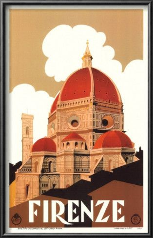 Firenze vintage poster -- I love vintage travel posters.