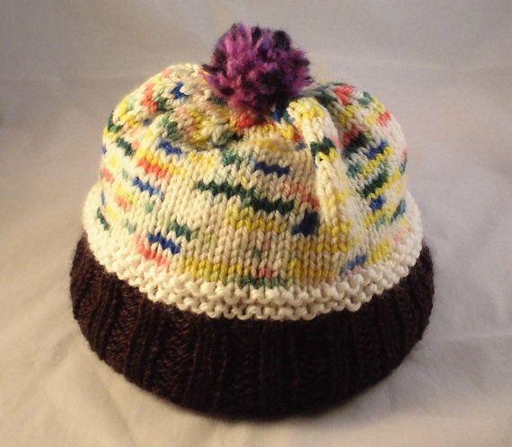 DIY Knitting Kit For Cupcake Hat, Cupcake Hat Pattern, Diy Baby To Adult Sizes, Knitting Kit, Kids Size Cupcake Hat, Knitting Kit, DIY Hat