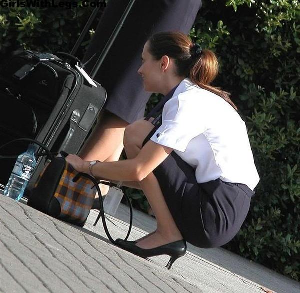 Air hostess pantyhose footjob saf 3