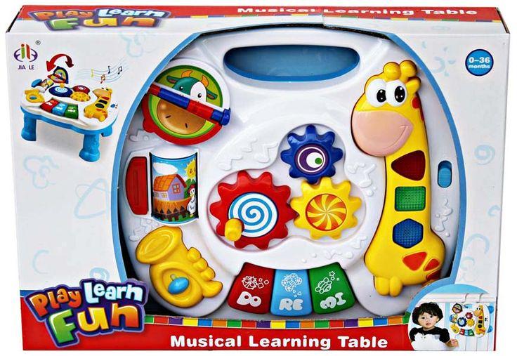 Musical learning table, mainan anak berbentuk meja dengan aneka fungsi musik dan suara yang lucu. ukuran meja 28cm x 26cm x 6cm