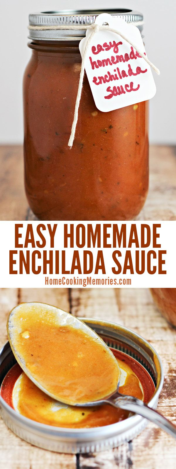 Skip the canned enchilada sauce - this easy homemade enchilada sauce is full of amazing flavor! It's made with mostly pantry ingredients and it won't take you long to make.