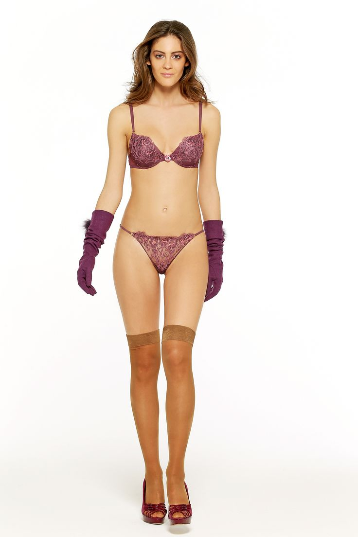 VALERY FW 15-16 #chic #purple #bra #thong #madeinitaly #lace #sexy #lingerie #corsetry #transparent  pic by #benedusi