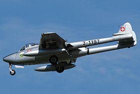 Un De Havilland Vampire FB.6 suisse