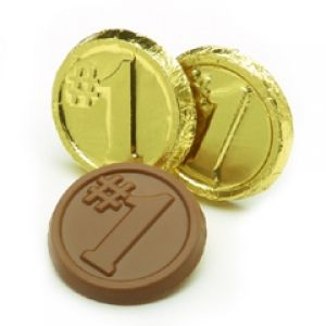 """""""Number 1"""" Chocolate Coin"""
