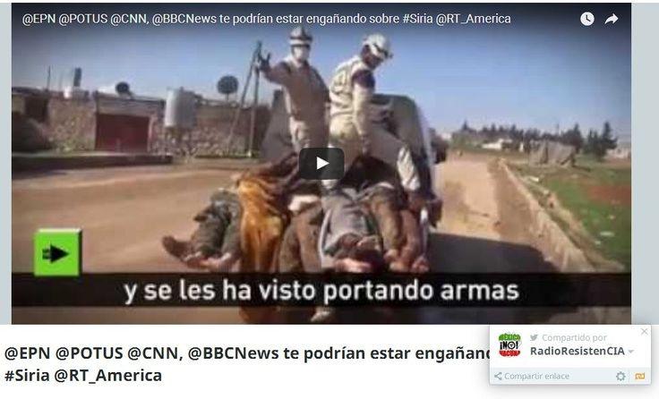 #VAXMORTIS: @EPN @POTUS @CNN, @BBCNews te engañan sobre #Siria...