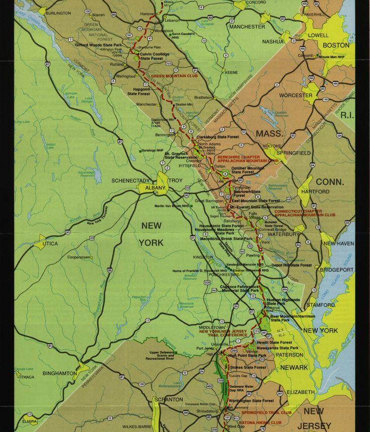 Appalacian Trail Vermont Massachusetts Connecticut New York