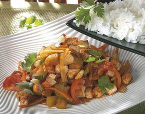 Zoetzure groenten met tofu