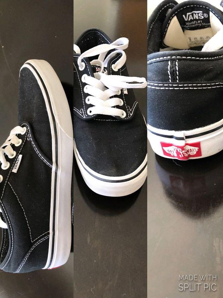 VANS Authentic Lo Pro black/white Sneakers Women's Size 8 Skater LKNW #Vans  #