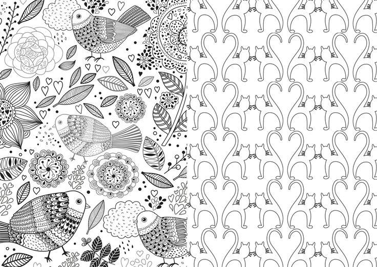 Ms de 25 ideas increbles sobre Hojas para colorear en Pinterest