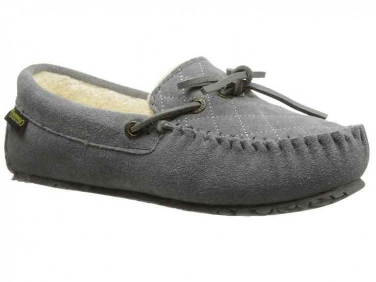 Old Friend Slippers Womens Size 10 Molly Moccasin Sheepskin Grey #OldFriend #MoccasinSlippers