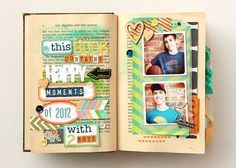 deb duty {photography + scrapbooking}: altered book: happy little moments --> this is so awesome!!!