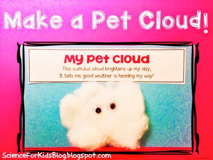 Science for Kids: Kindergarten NGSS - activity for little cloud and/or it looked like spilt milk