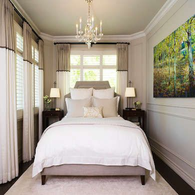 Living Large: 10 Tiny Bedrooms with Big Style. Love the drapes.